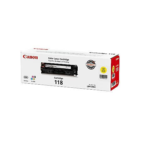 Canon 118, Yellow Toner Cartridge (2659B001AA)