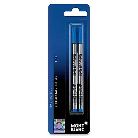 Montblanc® Refills, Rollerball, Fine Point, Blue, Pack Of 2