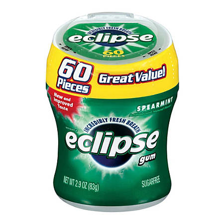 Eclipse Big E Gum Bottle, Spearmint
