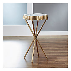 FirsTime Co Quatrefoil Tray Side Table