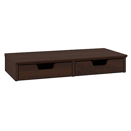 Bush Furniture Key West Desktop Organizer With Drawers, Bing Cherry, Standard Delivery