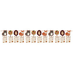 Amscan Paper Thanksgiving I Am Thankful For Garland, 12', Pack Of 2