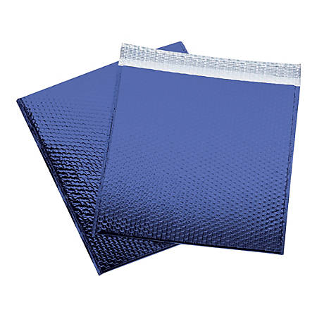 "Office Depot® Brand Glamour Bubble Mailers, 17-1/2""H x 16""W x 3/16""D, Blue, Pack Of 48 Mailers"