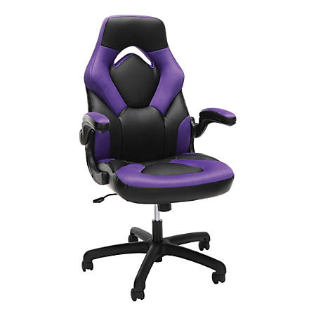 Astounding Ofm Essentials 3085 Racing Style High Back Gaming Chair Black Purple Item 5760462 Cjindustries Chair Design For Home Cjindustriesco