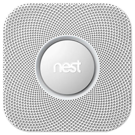 Nest Protect Battery-Powered Wi-Fi Smoke Detector With Split-Spectrum Sensor, White