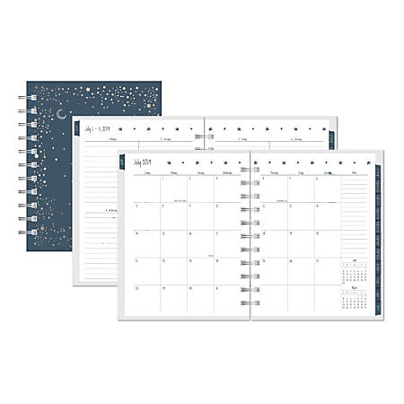 "Office Depot® Brand Celestial Weekly/Monthly Academic Planner, 4"" x 6"", July 2019 to June 2020"