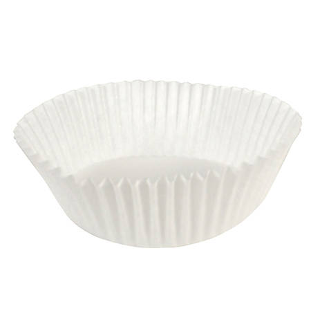 """Hoffmaster Fluted Baking Cups, 5-1/2"""" x 3"""", White, Case Of 10,000 Cups"""