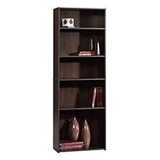 Sauder Beginnings Bookcase 5 Shelf Cinnamon