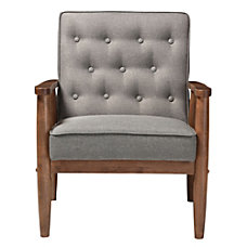 Baxton Studio Noel Fabric Lounge Chair