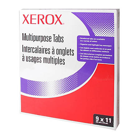 Xerox® 5100/4135 Straight Collated Copier Tabs, White, Box Of 250