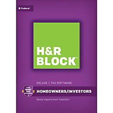 H R Block Deluxe 2017 Tax