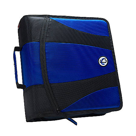 """Case-it® The Dual 2.0 Zipper Binder With 2 Sets Of D-Rings, 2"""" Rings, Assorted Colors"""
