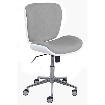 Serta Style Collection Haylie Fabric Mid-Back Office Chair, Heather/White/Chrome