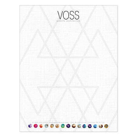 """Custom Full-Color Flat Print Stationery Letterhead,8 1/2"""" x 11"""", White Recycled, Box Of 250"""