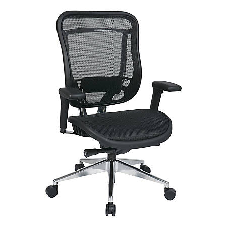 Office Star™ SPACE Big & Tall High-Back Mesh Chair, Black/Silver