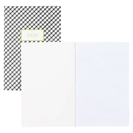 """Blue Sky Fashion Flexible Paper Notebooks - 80 Sheets - 5"""" x 8"""" - Recycled - 3 / Pack"""