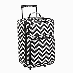 "iGnite Two-Tone Zig Zag Collapsible Carry-On Luggage, 20""H x 14""W x 8""D, Chevron Print"