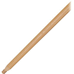 "Rubbermaid Commercial Floor Sweep Threaded Wood Handle - 54"" Length - 1.31"" Diameter - Lacquer, Woodgrain - Wood"