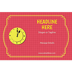 Custom Adhesive Vinyl Signs Lunch Clock