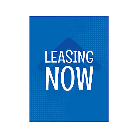 Plastic Sign, Leasing Now House, Vertical