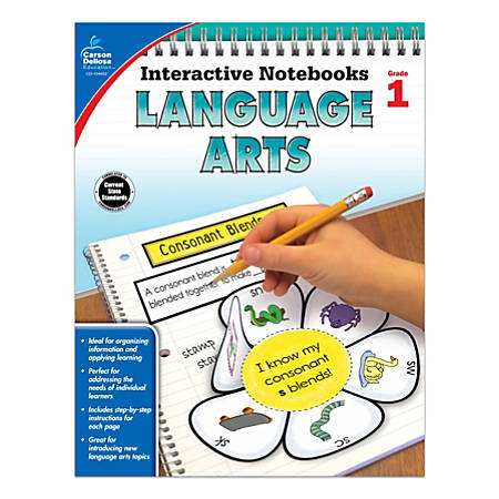 Carson-Dellosa Interactive Language Arts Notebook, Grade 1