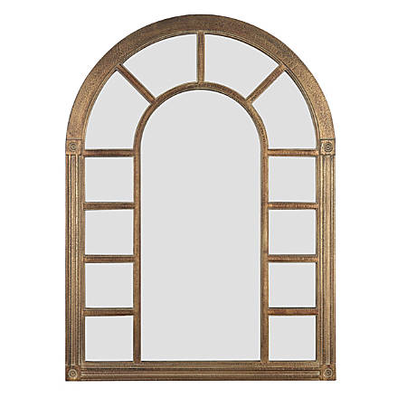 "Kenroy Home Wall Mirror, Cathedral, 38""H x 28""W x 1""D, Bronze"