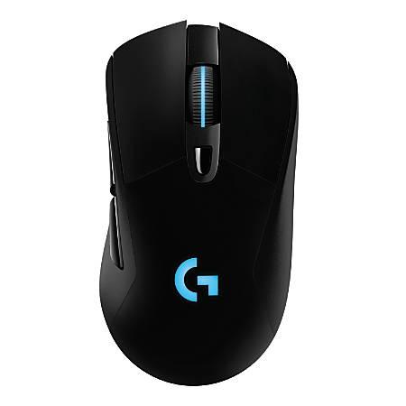 """Logitech® G703 LIGHTSPEED Wireless Optical Gaming Mouse, 1 11/16""""H x 2 11/16""""W x 4 7/8""""D, Black, 910-005091"""