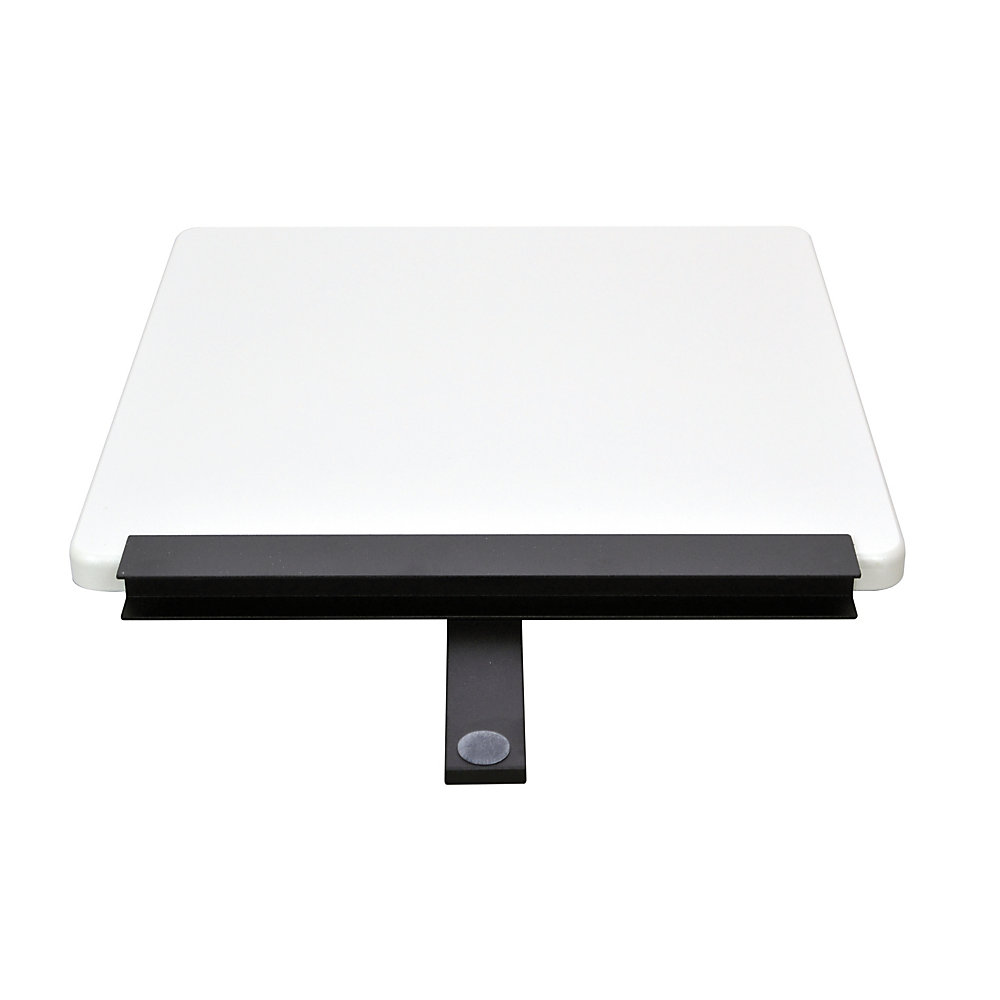 If you need extra room to get things done, attach this work surface to your desktop to create a larger office space. The omnidirectional sides let you place it in a variety of areas.  Adds work space to your Ergo Desktop desk work surface (sold separately).  Made of MDF and aluminum for a strong structure.  H-channel sides and support bars underneath create a strong space. Omnidirectional sides allow placement in right or left sides and corners.  11 1/2