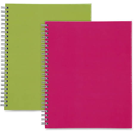 Sparco Twin-wire Professional-style Notebook - 80 Pages - Twin Wirebound - Multi-colored Cover - Perforated, Laminated, Easy Tear - 2 / Pack