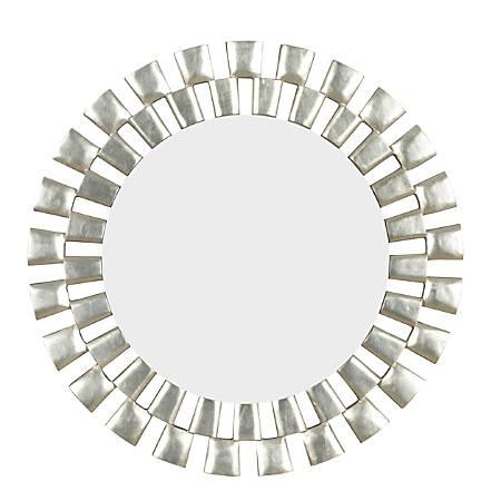 "Kenroy Home Wall Mirror, Gilbert, 36""H x 36""W x 1""D, Silver"
