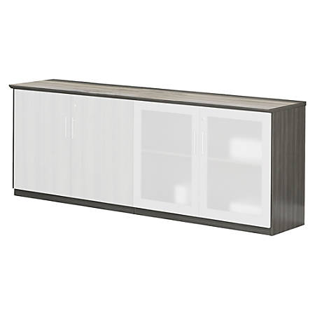 Mayline Medina Series Low Wall Cabinet, Gray Steel