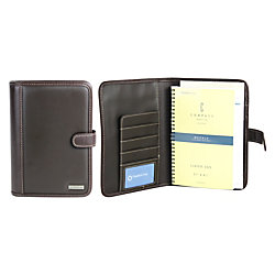 "FranklinCovey® Undated Spiral Planner, 8 1/2"" x 5 1/2"", Black/Brown"