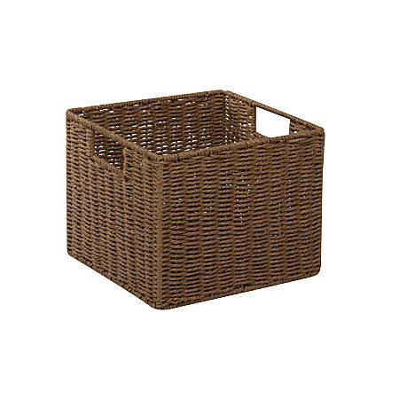 "Honey-Can-Do Paper Rope Storage Crate, 12 1/4"" x 13"" x 10"", Brown"