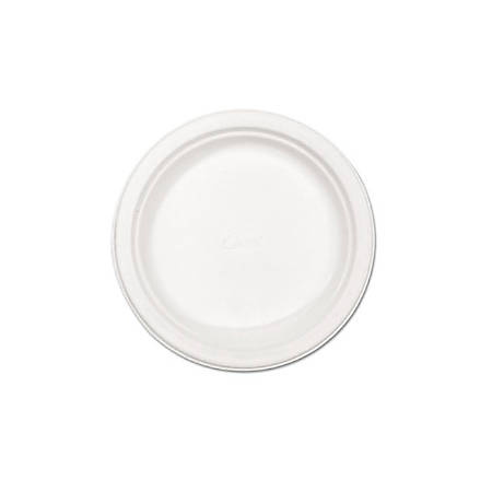 """Chinet Disposable Dinner Plates, 8 3/4"""", 100% Recycled, Classic White, Case Of 500"""