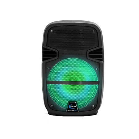 Technical Pro 1,000 Watts Rechargeable LED Active Loudspeaker, Black, PB850LED