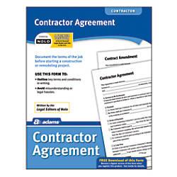 Adams Contractor Agreement