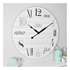 FirsTime Co Shiplap Chic Wall Clock