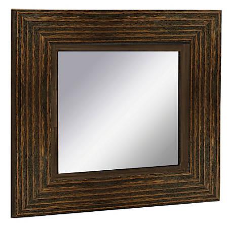 """PTM Images Framed Mirror, 20""""H x 20""""W, Natural Black"""