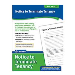 Adams Notice To Terminate Tenancy