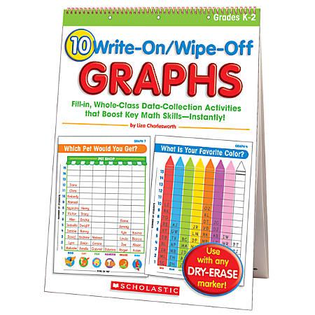 Scholastic Flip Chart — Write-On/Wipe-Off Graphs — Grades K–2