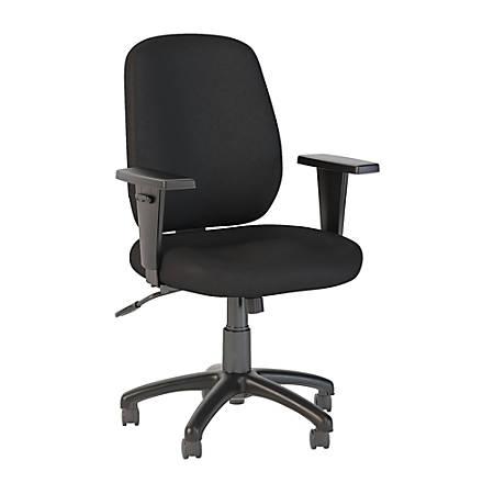 Bush Business Furniture Prosper Mid Back Task Chair, Black Fabric, Premium Installation