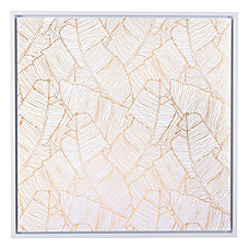Zuo Modern Palm Tree Canvas GoldWhite
