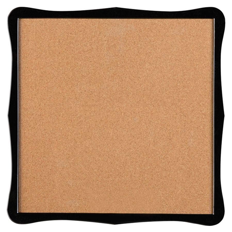 Quartet Home Organization Cork Bulletin Board 14 X 14 Brown Black
