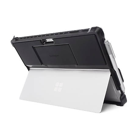 "Kensington BlackBelt Carrying Case for Surface Pro and Surface Pro 4 - Black - Impact Resistant, Scratch Resistant, Slip Resistant, Drop Resistant, Damage Resistant - Rubber, Silicone, Polycarbonate - Hand Strap - 8.5"" Height x 12"" Width x 0.8"" Depth"