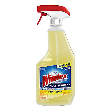 Windex® Antibacterial Multi-Surface Cleaning Spray, Lemon Scent, 26 Oz
