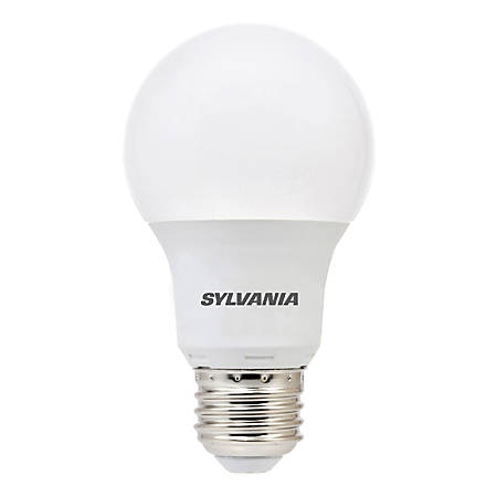 Sylvania A19 800 Lumens LED Bulbs, 8.5 Watt, 5000 Kelvin/Daylight, Pack Of 6 Bulbs