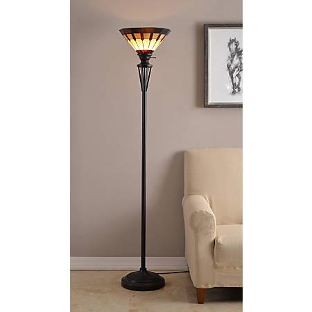Kenroy Home Harmond Tiffany Lamp Bronze