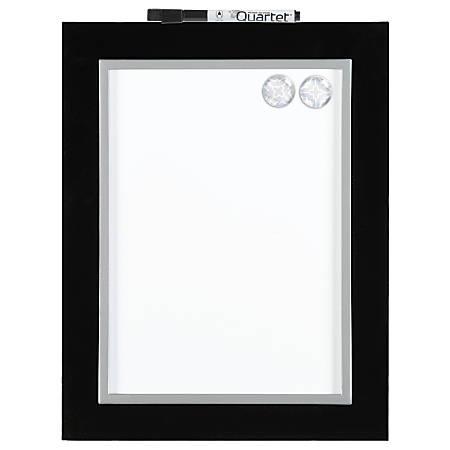 "Quartet® Magnetic Dry-Erase Whiteboard, 8 1/2"" x 11"", Black/Silver"