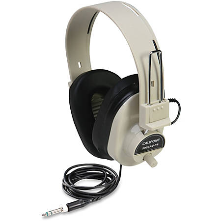 Ergoguys Ultra Sturdy Stereo Headphone with Volume Control - Wired Connectivity - Stereo - Over-the-head - Beige