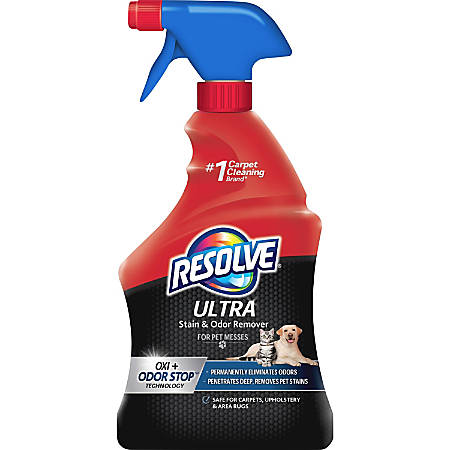 Resolve Ultra Stain/Odor Remover - For Cat, Dog - Recommended for Stain Removal, Odor Removal, Urine Stain, Feces, Urine Smell, Vomit, Red Wine, Juice, Residue, Food Stain - 1 quart - 1